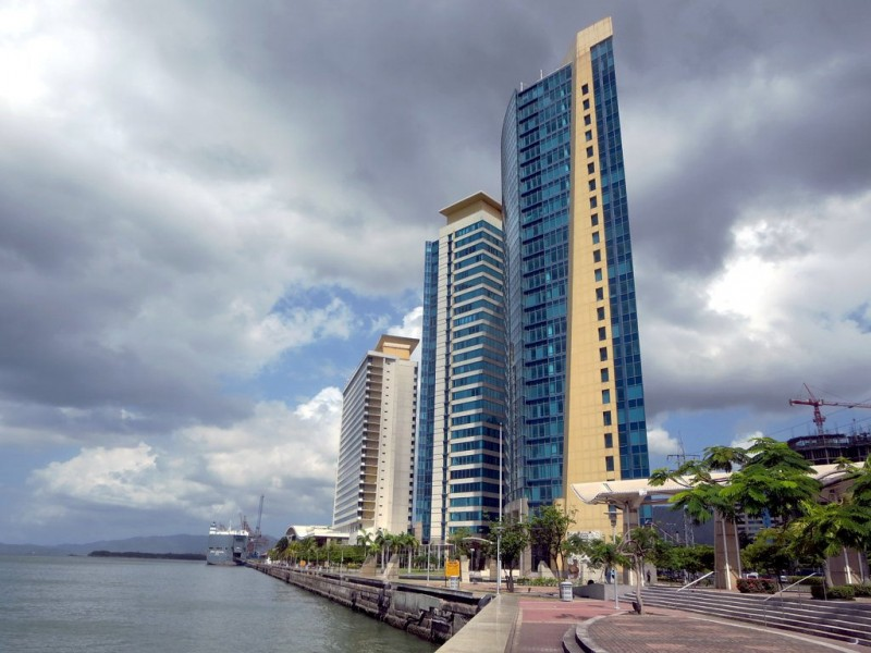 The Port of Spain International Waterfront Centre, which houses Trinidad and Tobago's Parliament. Photo by David Stanley, used under a CC BY 2.0 license.