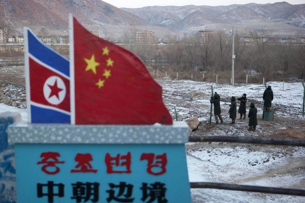 China and North Korea border. Photo from VOA Chinese.