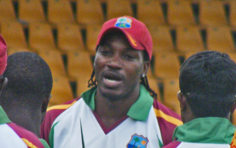 Chris Gayle at the Prime Ministers 11 Cricket match in Canberra 2010. Photo by Flickr user NAPARAZZI. CC BY-SA 2.0