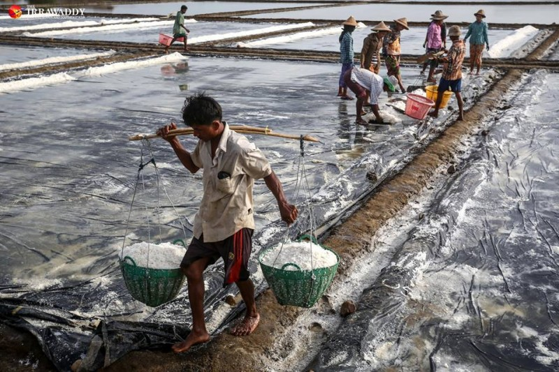 myanmar salt farm