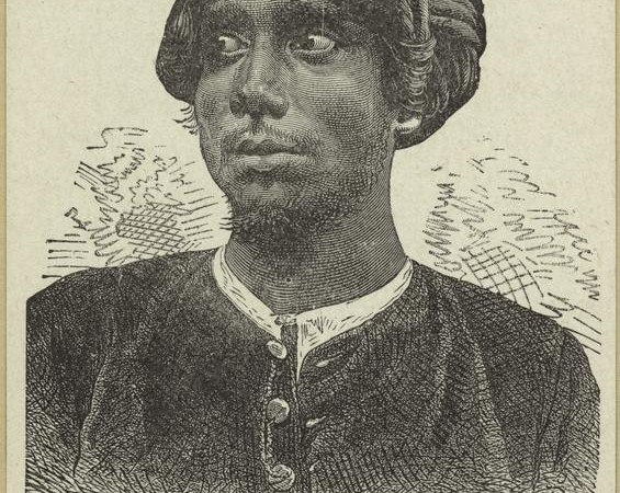 A second Caste Pundit (scholar) 1899. Engraver Charles Laplante . Photo from The New York Public Library Digital Collections