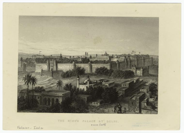 The king's palace at Delhi. (1859) Photo from The New York Public Library Digital Collections