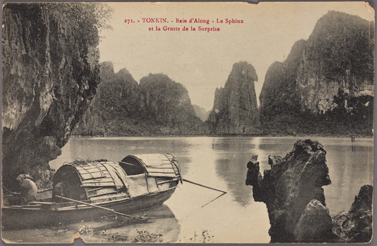 Ha Long Bay is now a famous tourism destination and UNESCO World Heritage Site. Photo from The New York Public Library Digital Collections. 1900 - 1909.