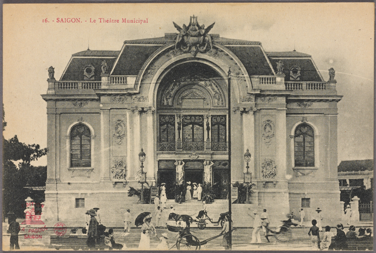 Saigon Opera House. Photo from The New York Public Library Digital Collections, 1910