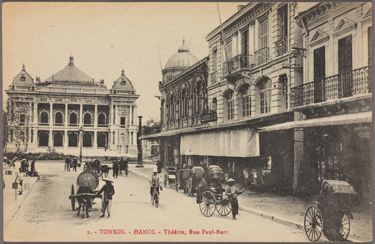 Hanoi Théâtre, Rue Paul-Bert. Photo from The New York Public Library Digital Collections