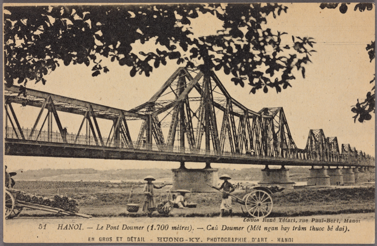 A Cantilever bridge in Hanoi. Photo from The New York Public Library Digital Collections