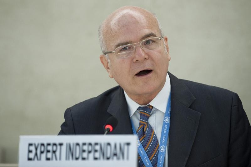 Michel Forst, Independent Expert on the situation of human rights in Haiti addresses during the 17th Session Human Rights Council. UN Photo / Jean-Marc Ferré. CC 2.0.