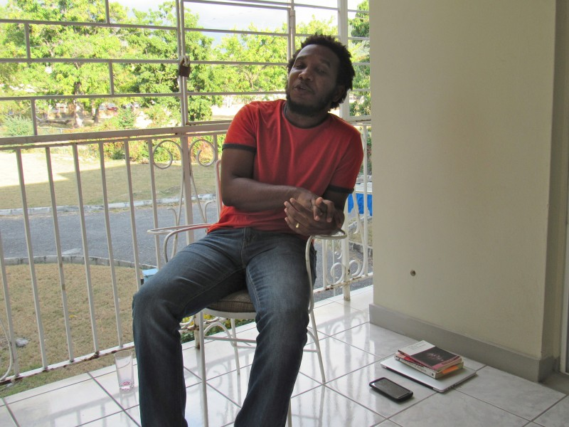 Vladimir Lucien at his residence on the UWI Mona campus. Photo courtesy Emma Lewis, used with permission.