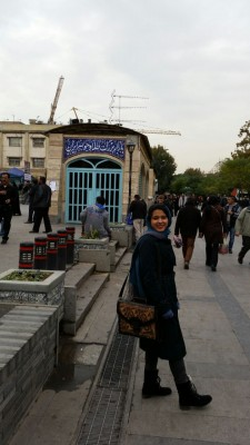 Sara Masry at Bazaar-e Bozorg (Grand Bazaar) in South Tehran