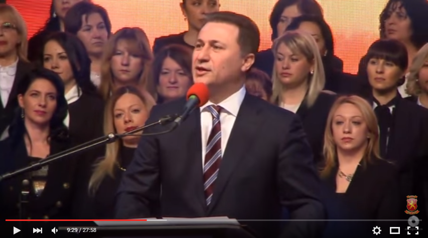 Nikola Gruevski speech