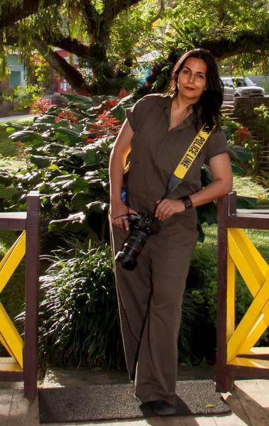 Photographer Sarita Rampersad; photo by Desmond Clarke, used with permission.