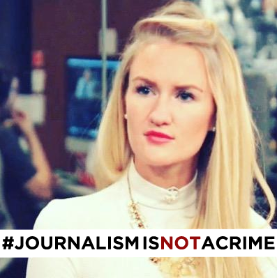 American journalist Anna Therese Day was arrested in Bahrain for covering protests to mark the fifth anniversary of Arab Spring-like protests which still continue. Photograph shared on social media after Day's arrest