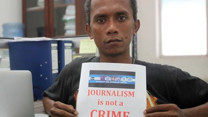 Timorese journalist Raimundo Oki. Photo: AJTL/Facebook