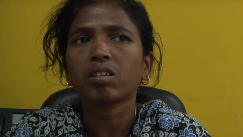 Tribal teacher and political leader Soni Sori speaking in an interview. Screenshot from Youtube