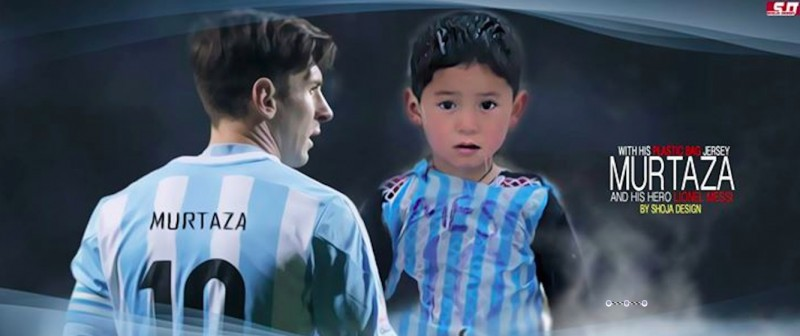 Messi and Murtaza. Photo shared on the Facebook group of Shoja Designi.