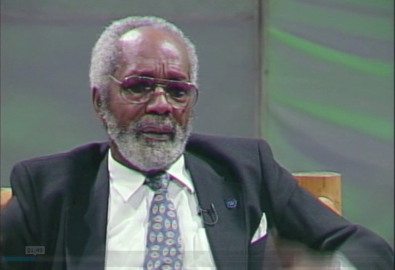 "A screen grab of Jamaican artist Barrington Watson, taken from a television interview, ""Profile with Ian Boyne"", on Jamaica's TVJ in 2010. The interview was part of a documentary on Watson by the National Gallery of Jamaica, ""Barrington: a Jamaican Artist's Story""."