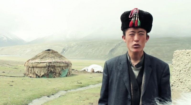 A Wakhan Kyrgyz. Screenshot from video uploaded by Jeff Waalkes.