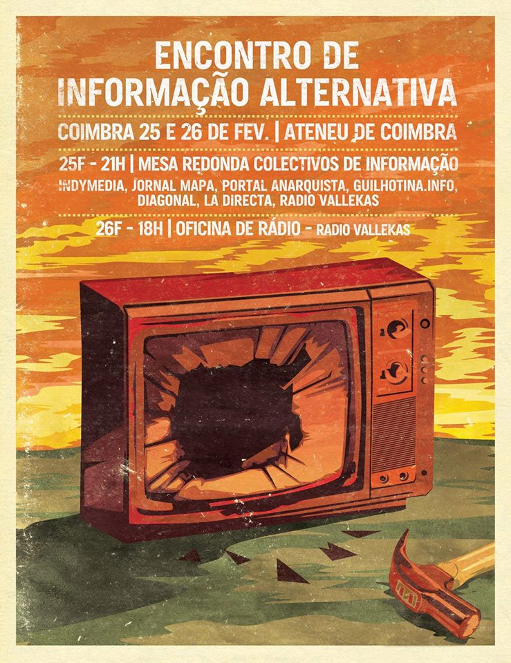 The Alternative Information Meet-up will take place in Coimbra on February 25-26, 2016. #InfoAltCoimbra