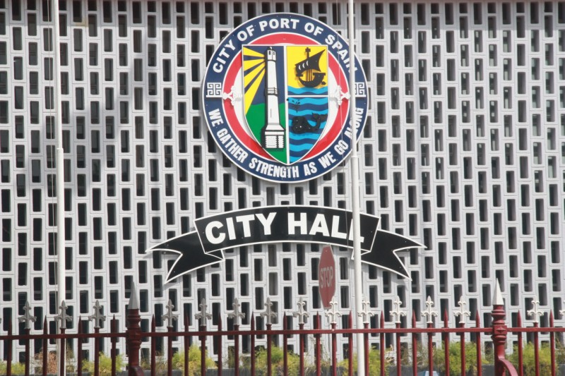 The seal of the Port of Spain City Hall; photo courtesy Janine Mendes-Franco.