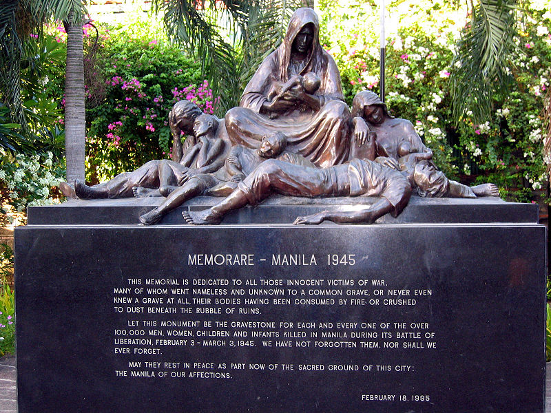 This memorial was built to honor the civilians who died during the Battle of Manila. Photo from the official gazette of the Philippine government