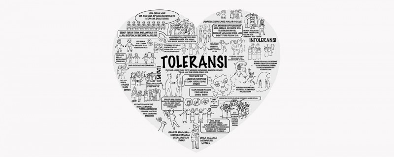 A screenshot of the video promoting tolerance in Indonesian society.