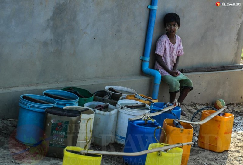 Water rationing in Yangon. Photo by Hein Htet / The Irrawaddy