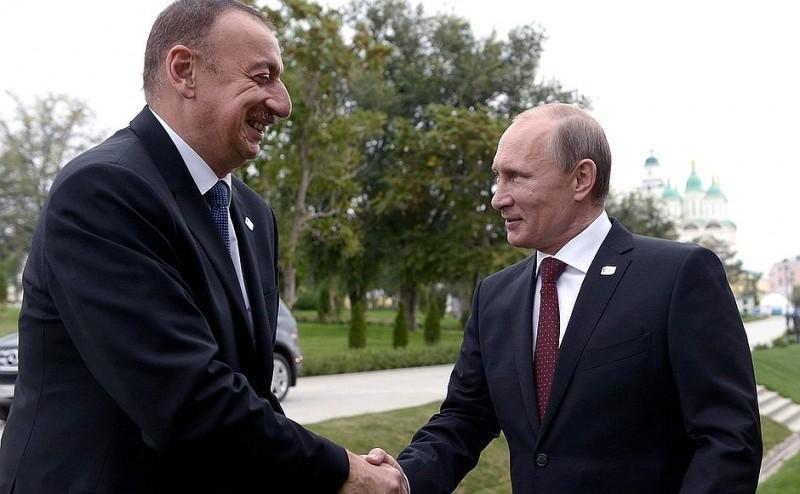 Rencontre entre le Président Aliyev et le Président Poutine en 2014. Photo officielle du gouvernement russe.