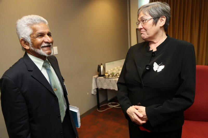 Deryck Murray of the Trinidad and Tobago Transparency Institute (TTTI) meets Clare Short of the Extractive Industries Transparency Inaitiative (EITI). Photo by The EITI, used under a CC BY 2.0 license.