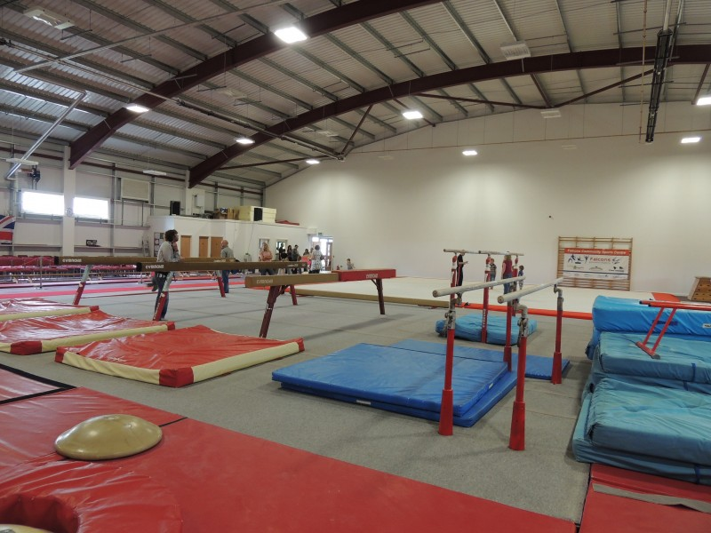 A community gymnastics centre; photo by North Devon Council, used under a CC BY 2.0 license.