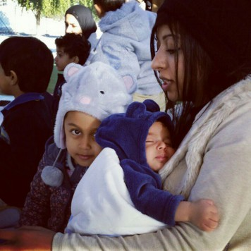 Zainab Al Khawaja with her 15-month-old son Abdul-Hadi were arrested in Bahrain today. Photo source: Gulf Centre for Human Rights
