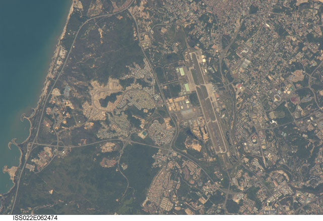 Bandar Seri Begawan, Brunei. Image courtesy of the Earth Science and Remote Sensing Unit, NASA Johnson Space Center