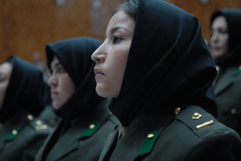 Women in the Afghan National Army. U.S. Air Force photo/Staff Sgt. Laura R. McFarlane/Released. Creative commons.