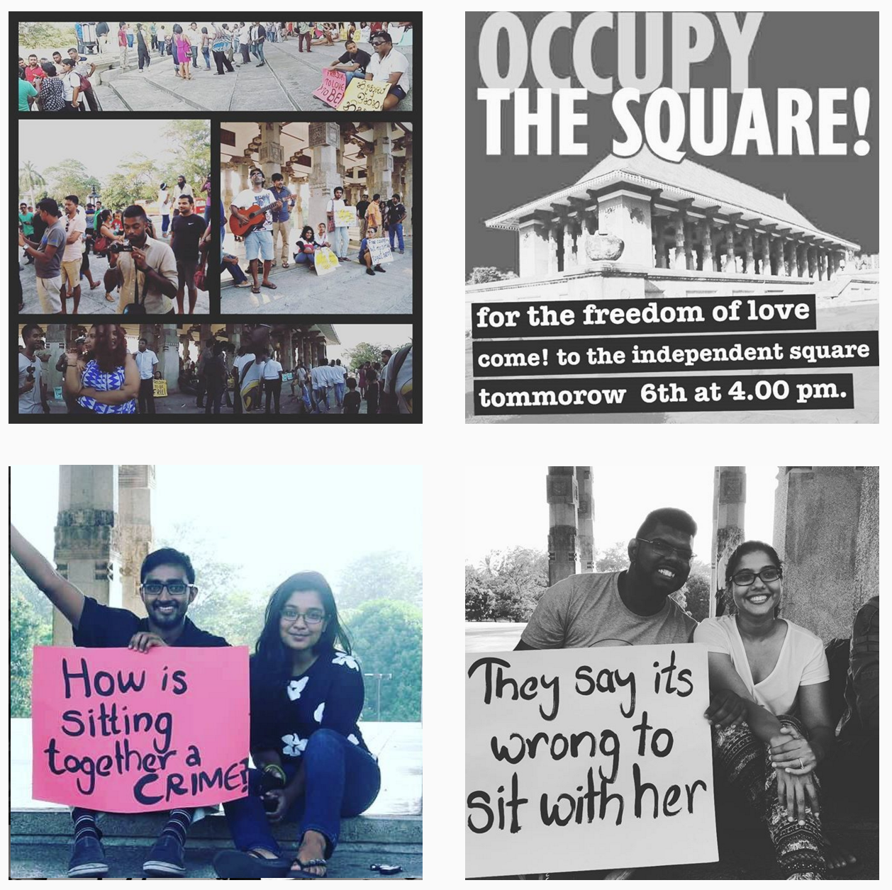 Screenshot from Instagram #OccupyTheSquare