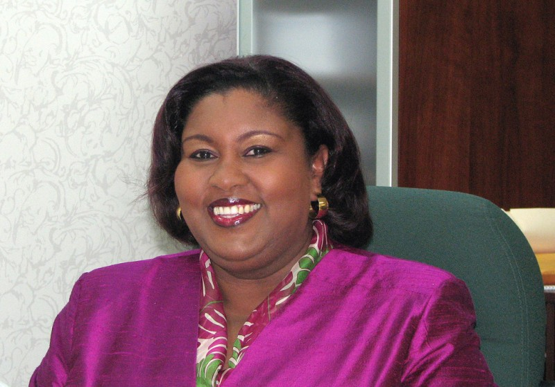 Marlene McDonald in 2008, when she was Trinidad and Tobago Minister of Community Development, Culture and Gender Affairs. Photo by Trinidad News, used under a CC BY 2.0 license.