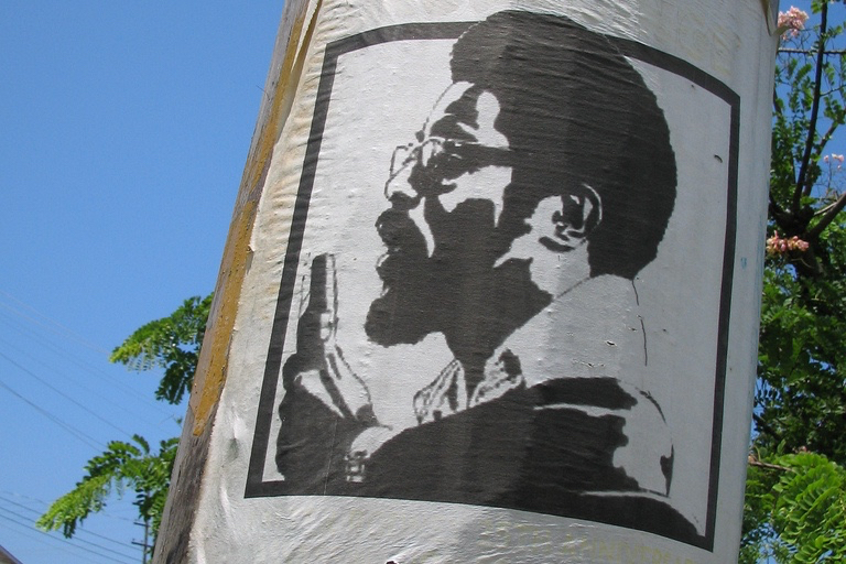 Walter Rodney poster, Georgetown, Guyana, July 2005. Photo by Nicholas Laughlin, used under a CC BY-NC-SA 2.0 license.