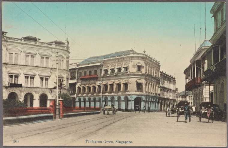 Finlayson Green, Singapore. 1907-1918. Photo from The New York Public Library Digital Collections.
