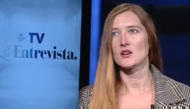 Screenshot of Andrea Noel discussing her sexual assault with El Universal.