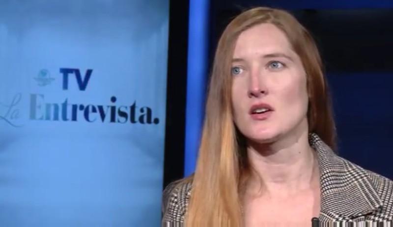Screenshot of Andrea Noel discussing her sexual assault with El Universal.