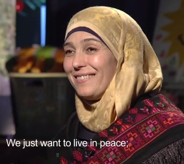Palestine's Hanan Al Hroub was voted World's Best Teacher. (Screen capture from video.)