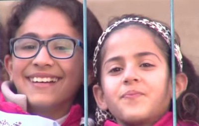 "Hanan Al Hroub's students learn to say ""no"" to violence, in the classroom and beyond. (Screen capture from video.)"
