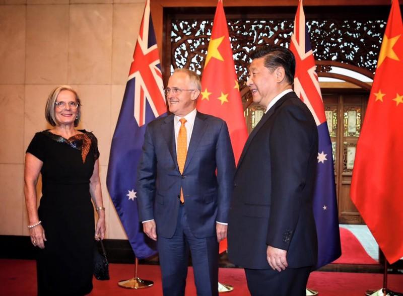El primer ministro australiano Malcolm Turnbull con el presidente chino Xi Jinping el pasado abril. Foto: Malcolm Turnbull, página pública de Facebook.