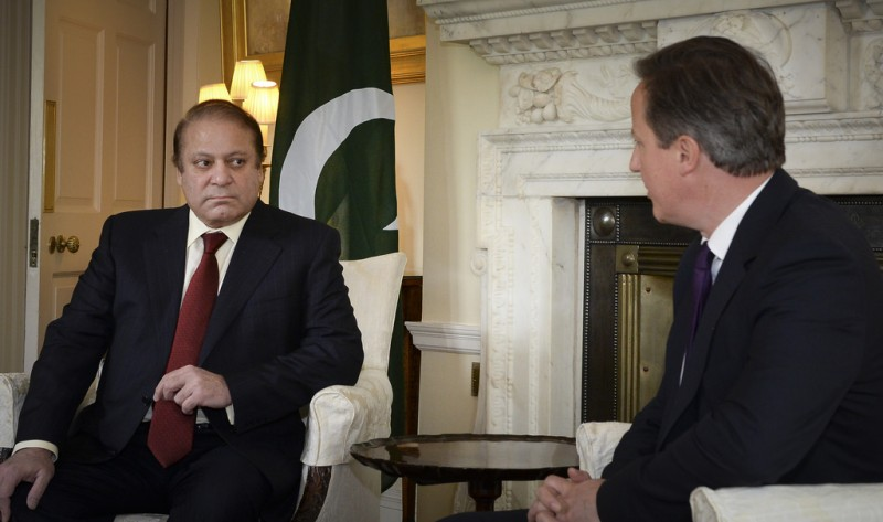 Nawaz Sharif, the prime minister of Pakistan, during a visit to Downing Street in April 2014. Photo from the Flickr account Number 10. CC BY-NC-ND 2.0
