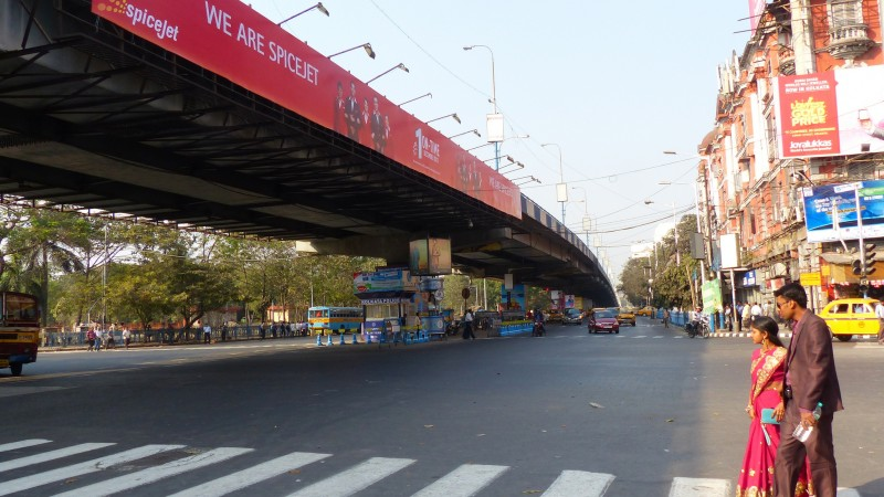 Park Street Flyover, Kolkata. Image from Flickr by Paul Hamilton. CC BY-SA 2.0