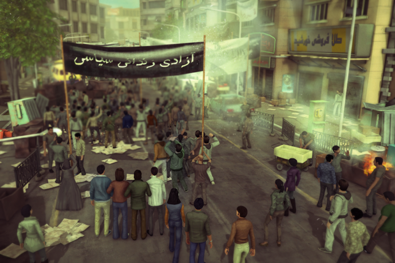 Screenshot from the game 1979 Revolution