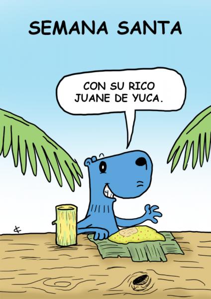 Holy Week cartoon by Carlos Cavero.