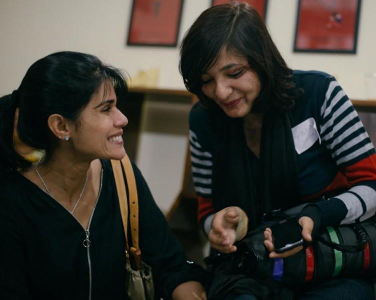 Survivors at The Make Love Not Scars Rehabilitation Center grand opening Credit: Avirat Sundra