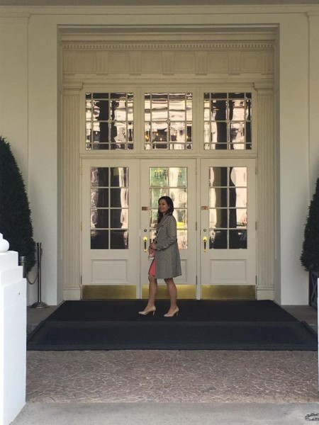 Azadeh Pourzand at the White House for Nowruz celebrations.