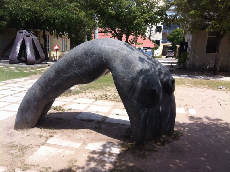 A sculpture at Jamaica's UTech university campus. Photo by Janine Mendes-Franco, used with permission.