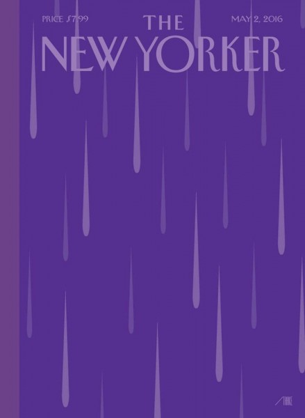 "A picture says a thousand words -- the cover of ""The New Yorker"" magazine in tribute to Prince; widely shared on Facebook."