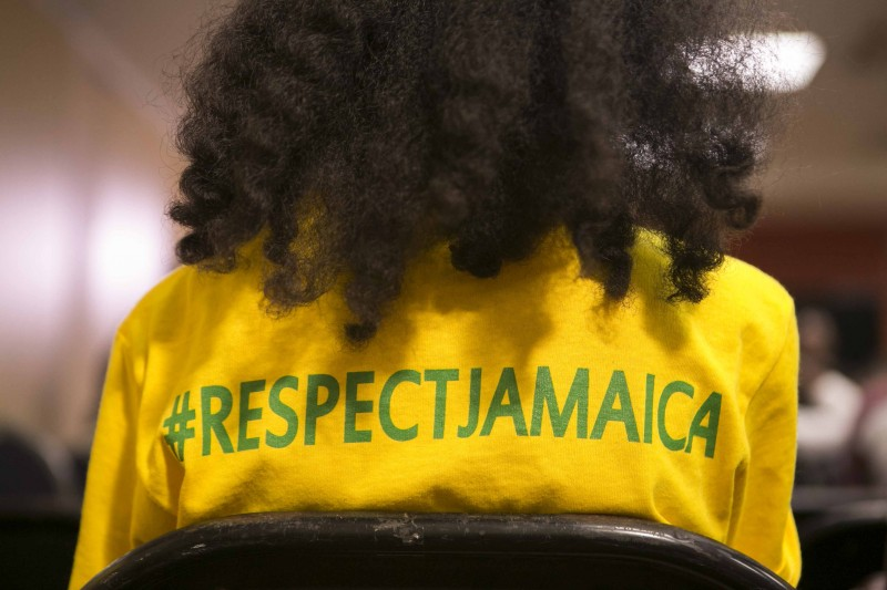 Young Jamaican girl sporting a Respect Jamaica t-shirt. Photo courtesy Respect Jamaica, used with permission.